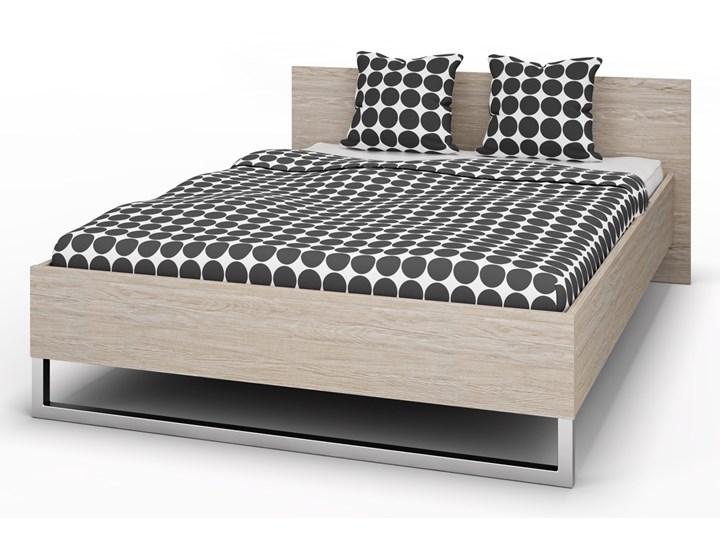 Eleganckie łóżko z wezgłowiem Style 140x200 dąb sonoma Kategoria Łóżka do sypialni