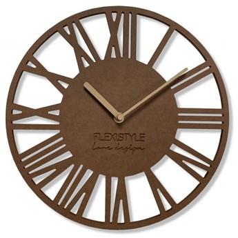 Zegar ścienny Loft Piccolo Brąz 30cm