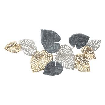 Metalowa dekoracja wisząca z wzorem liści Mauro Ferretti Ory -A-, 31x90 cm