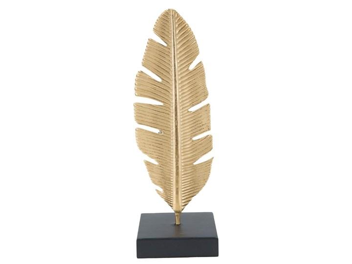 Świecznik dekoracyjny w kolorze złota Mauro Ferretti Feather, wys. 30 cm Kategoria Figury i rzeźby Kolor Złoty