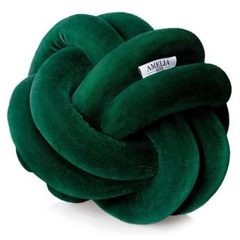 Zielona poduszka dekoracyjna AmeliaHome Nancy Knot Grey