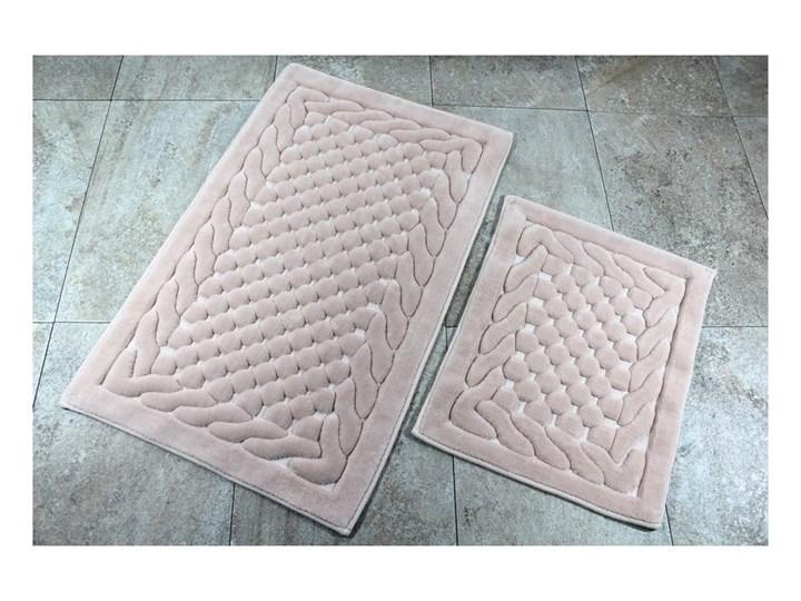 Zestaw 2 dywaników łazienkowych Alessia Bambi Powder 60x100 cm Prostokątny 50x60 cm Kategoria Dywaniki łazienkowe Kolor Beżowy