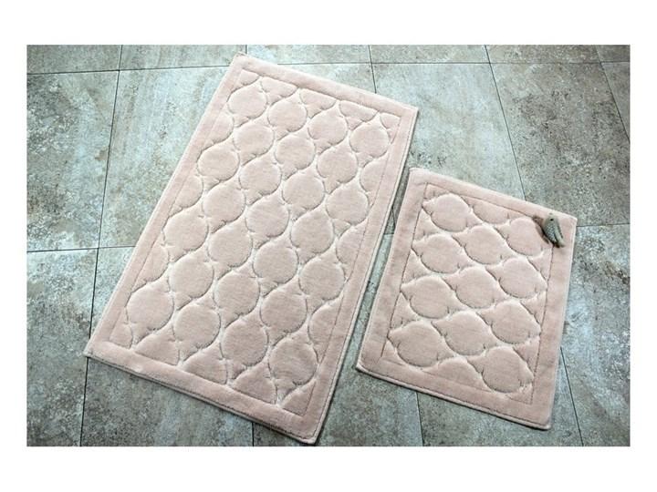 Zestaw 2 dywaników łazienkowych ze 100% bawełny Dante Powder Prostokątny 50x60 cm Kategoria Dywaniki łazienkowe 60x100 cm Bawełna Kolor Beżowy