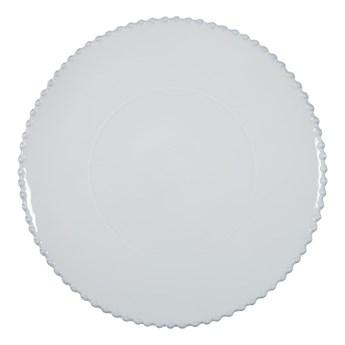 Biały kamionkowy talerz do serwowania Costa Nova Pearl, ⌀ 33 cm