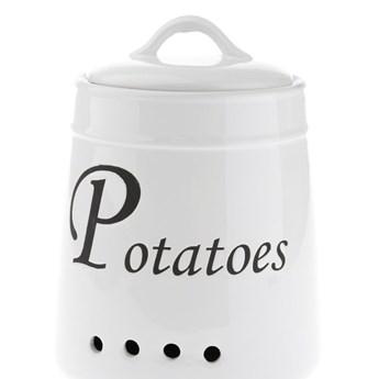 Biały pojemnik ceramiczny na ziemniaki Dakls, 4120 ml