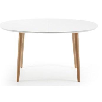 Stół rozkładany do jadalni z drewna bukowego La Forma Oakland, 140 x 90 cm