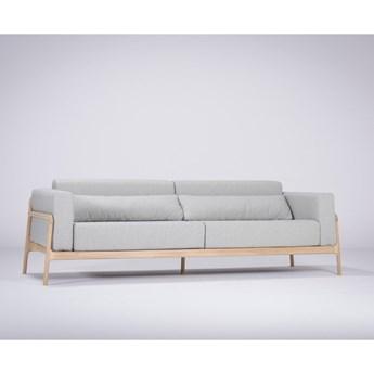 Niebieskoszara sofa z konstrukcją z drewna dębowego Gazzda Fawn, 240 cm