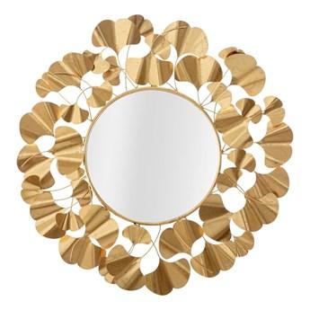 Lustro ścienne w kolorze złota Mauro Ferretti Leaf Gold, ø 81 cm