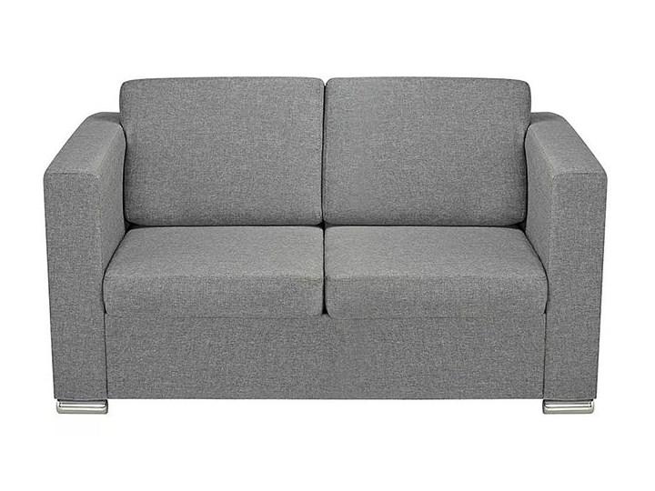 Dwuosobowa jasnoszara sofa loftowa - Sigala 2Q Głębokość 73 cm Styl Industrialny Typ Gładkie