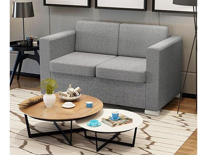 Dwuosobowa jasnoszara sofa loftowa - Sigala 2Q Styl Industrialny Głębokość 73 cm Kolor Szary