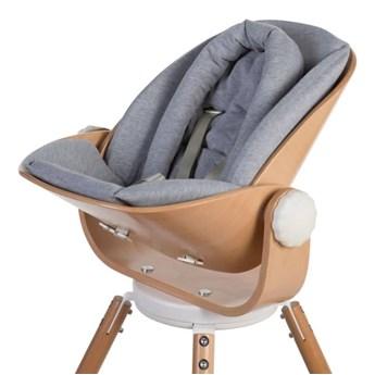 CHILDHOME Poduszka do wysokiego krzesełka Evolu Newborn, dżersej szara