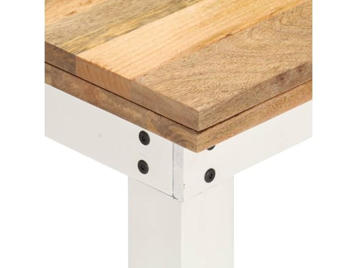 vidaXL Rozkładany stół, biały, 82x(80-160)x76 cm, lite drewno mango Kategoria Stoły kuchenne