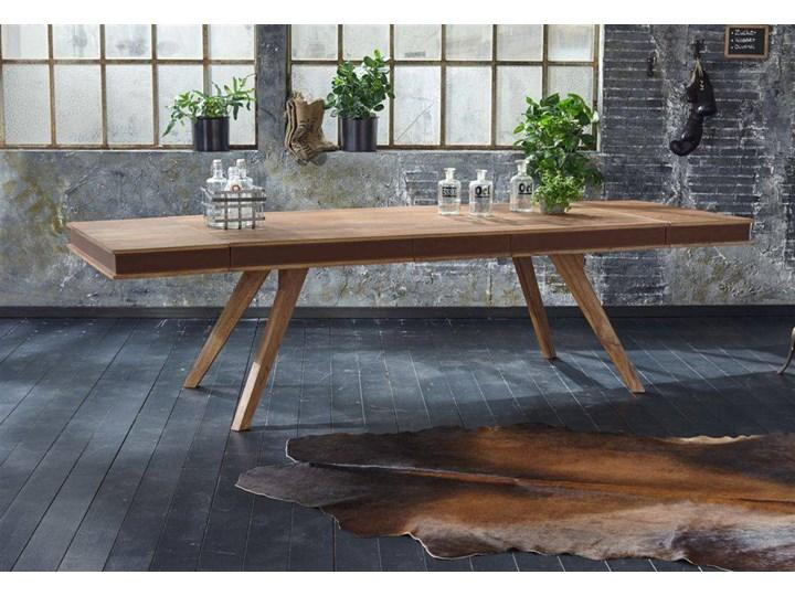 Stół drewniany jadalniany 200/290 cm Milan (bez szuflady) Drewno Długość 200 cm  Kolor Brązowy Wysokość 77 cm Kategoria Stoły kuchenne