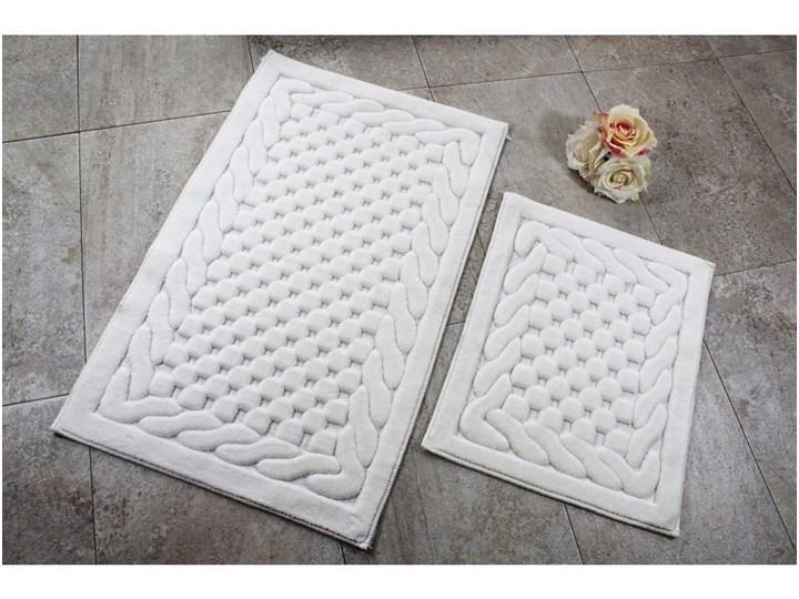 Zestaw 2 kremowych dywaników łazienkowych Bambi 50x60 cm Prostokątny 60x100 cm Kolor Beżowy Kategoria Dywaniki łazienkowe