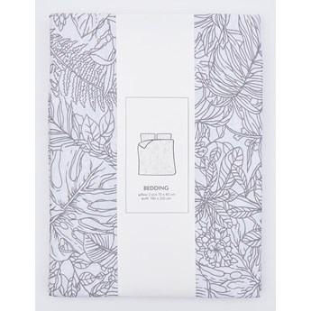 Sinsay - Bawełniany komplet pościeli 160x200 - Biały