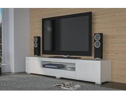 Duża szafka pod telewizor, stolik RTV biały połysk 200 cm