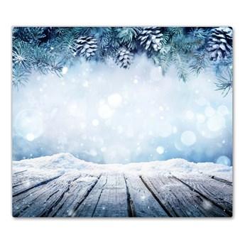 Deska kuchenna Zima Śnieg Choinka Święta