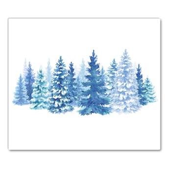 Deska kuchenna Choinki Śnieg Święta Zima