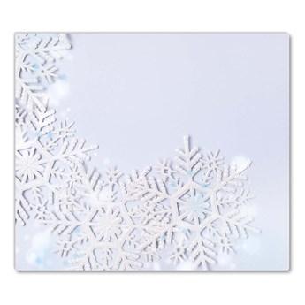 Deska kuchenna Płatki śniegu Zima Śnieg
