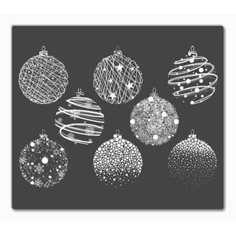 Deska kuchenna Abstrakcja Święta Bombki Zima