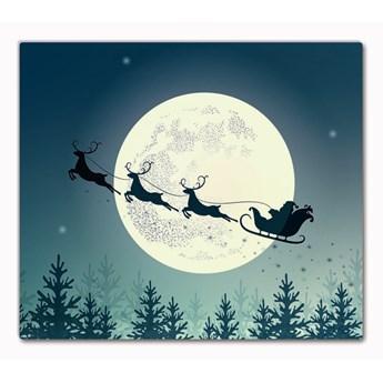 Deska kuchenna Świety Mikołaj Sanie Święta