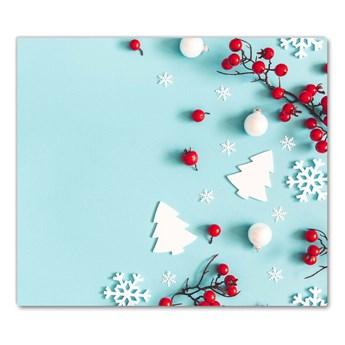 Deska kuchenna Płatki Śniegu Ozdoby Święta