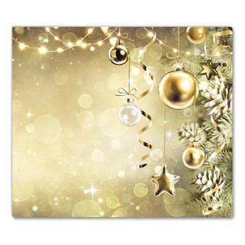 Deska kuchenna Złote Bombki Święta Dekoracje