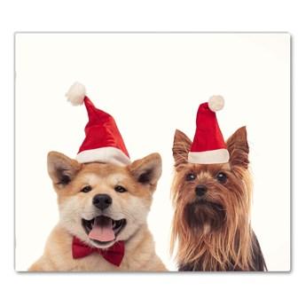 Deska kuchenna Psy Święty Mikołaj Święta