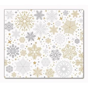 Deska kuchenna Płatki Śniegu Święta Zima