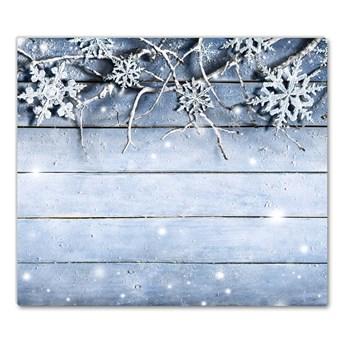 Deska kuchenna Święta Płatki śniegu Zima Mróz