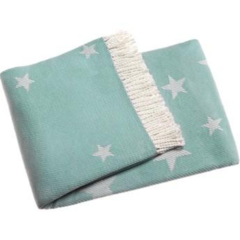 Pastelowoniebieski pled z domieszką bawełny Euromant Stars 140x160 cm