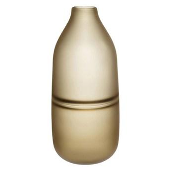 Szklany wazon Hübsch BROWN brązowy