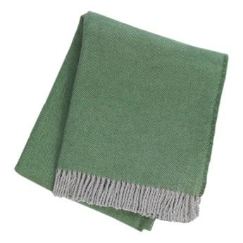 Zielony pled z domieszką bawełny Euromant Jade, 140x160 cm