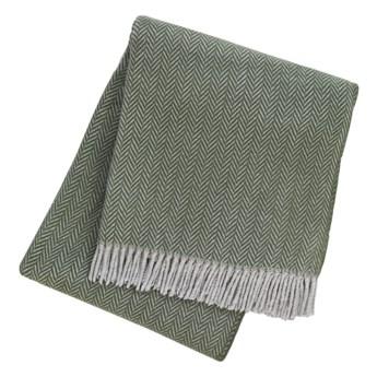 Zielony pled z domieszką bawełny Euromant Skyline, 140x160 cm