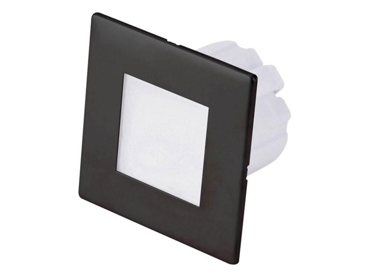 Lampa schodowa LED DPM 1,2 W 4000 K IP20 kwadratowa czarny mat