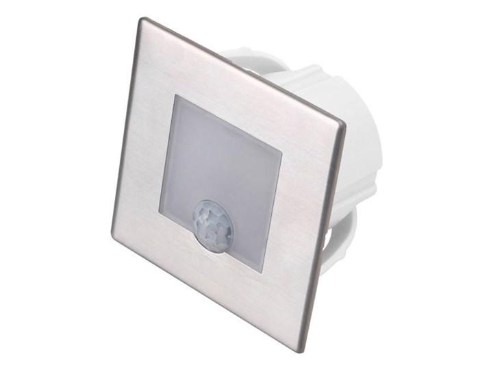 Lampa schodowa LED DPM 1,2 W 4000 K IP20 kwadratowa z czujnikiem ruchu stal nierdzewna