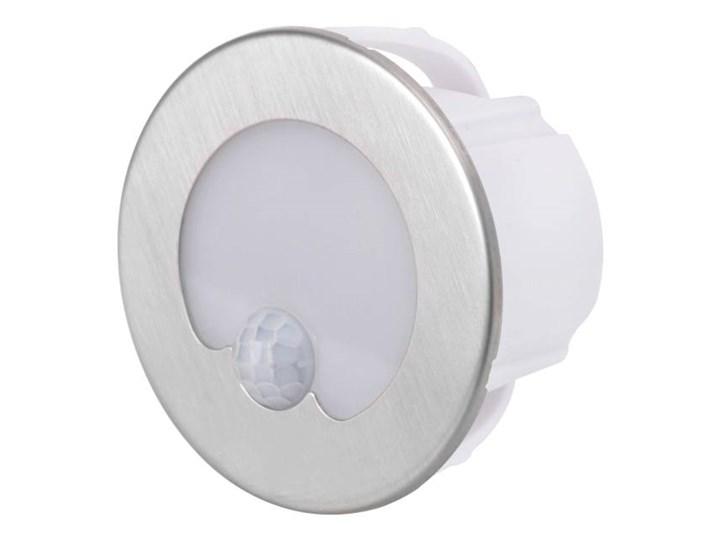 Lampa schodowa LED DPM 1,2 W 4000 K IP20 okrągła z czujnikiem ruchu stal nierdzewna