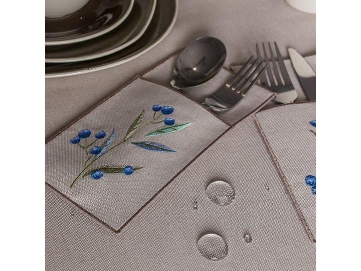 Obrus beżowy VENEZIA beżowy 140 x 220 cm Plamoodporny Wzór Kwiaty Prostokątny Poliester Wymiary 140x220 cm