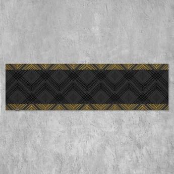 Czarny bieżnik na stół VERONA (złoty haft) czarny 40 x 100 cm