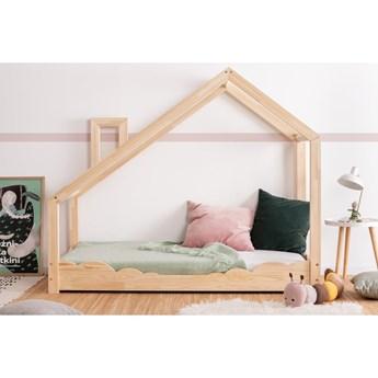 Łóżko w kształcie domku z drewna sosnowego Adeko Luna Drom, 90x170 cm