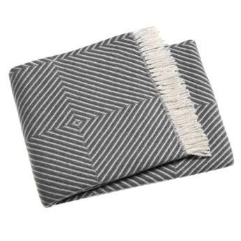 Szary pled z domieszką bawełny Euromant Tebas, 140x160 cm