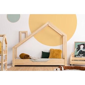 Łóżko w kształcie domku z drewna sosnowego Adeko Luna Bek, 70x160 cm