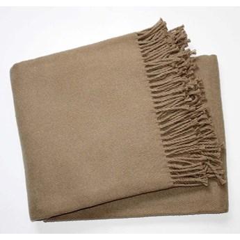 Brązowy pled z domieszką bawełny Euromant Basics, 140x160 cm