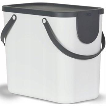 Kosz na śmieci ROTHO 1024901023 Albula 25 L Biały