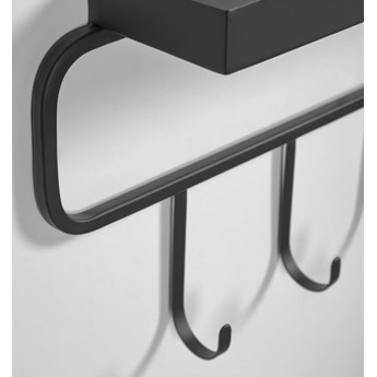 Wieszak Callia metalowy czarny 86 x 28 cm