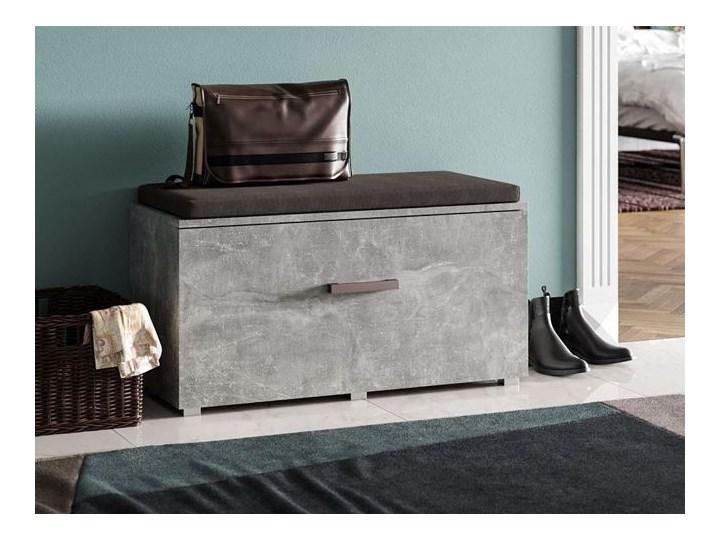 Designerska szafka na buty Adon - beton Płyta MDF Typ Z siedziskiem