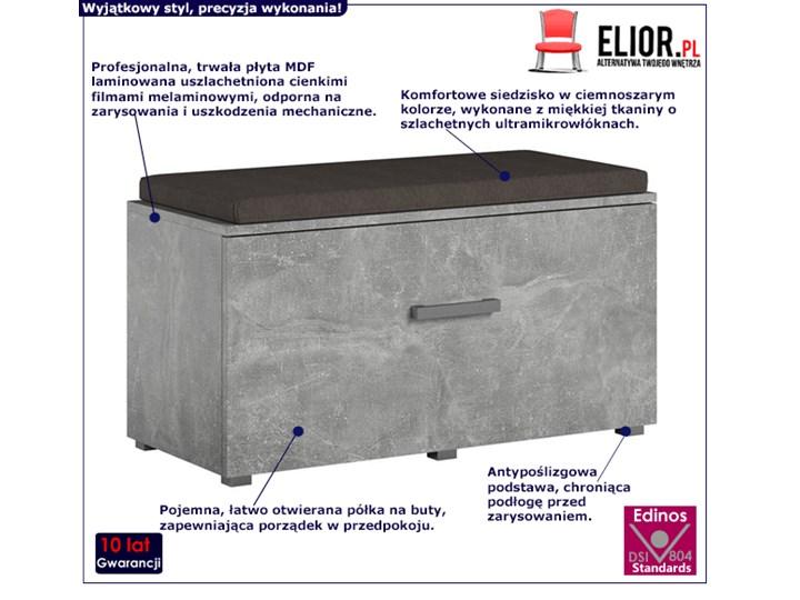 Designerska szafka na buty Adon - beton Płyta MDF Styl Nowoczesny Styl Industrialny