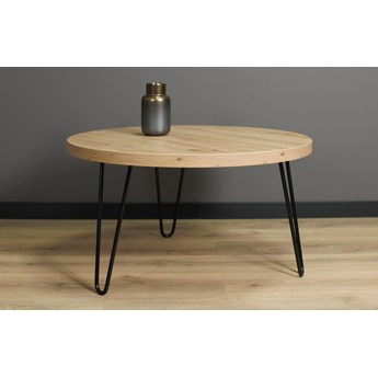 Okrągły stolik kawowy SIMPLE Dąb Artisan