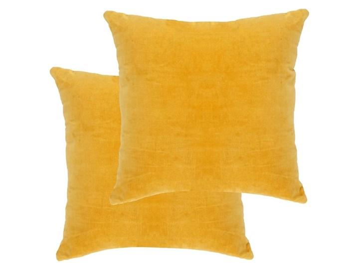VidaXL Poduszki, 2 szt., aksamit bawełniany, 45 x 45 cm, żółte 45x45 cm Bawełna Kategoria Poduszki i poszewki dekoracyjne Kwadratowe Kolor Żółty