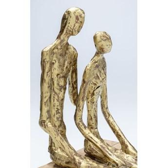 Figurka dekoracyjna Couple In Love 17x31 cm złota